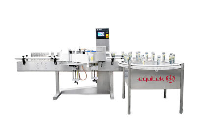 automatic labeling machine for round bottles - Equitek USA